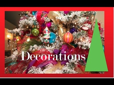 Christmas Tree decorations on a budget - How to decorate a Christmas tree with Color