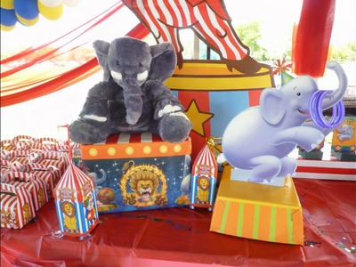 Circus decoration for birthday party in a park. DreamArk Events  * www.dreamarkevents.com *