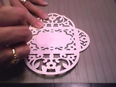 Cottagecutz Tea Time Lace envelope Folding