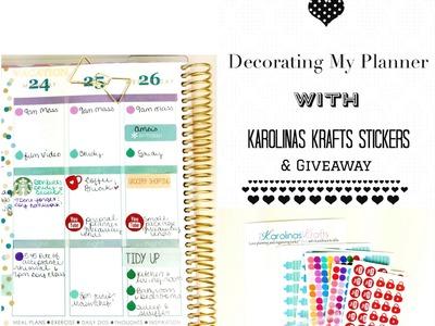 Decorating My Planner W.Karolinas Krafts Stickers & Giveaway [CLOSED]
