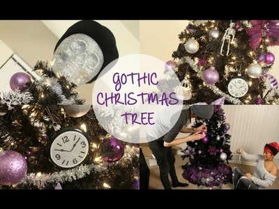 Decorating Our Gothic Christmas Tree!