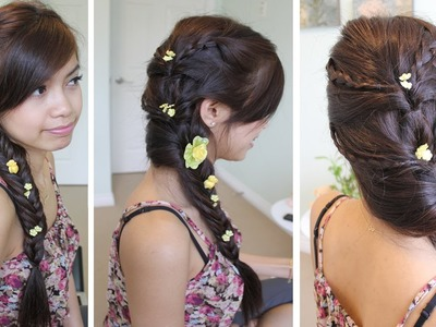 Fancy Fishtail Braid Hairstyle for Medium Long Hair Tutorial
