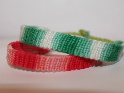 """Gradient"" Friendship Bracelet Tutorial"