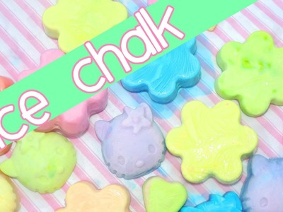 Homemade ice chalk! Summer fun!