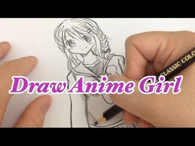 How to draw a Manga girl step by step in slow tutorial