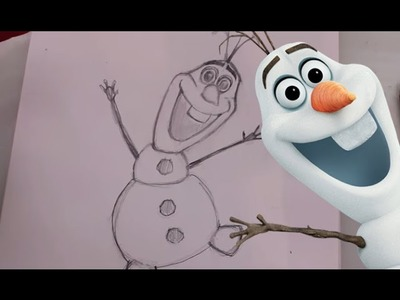 How to Draw OLAF the Snowman fromDisney's Frozen - @DramaticParrot