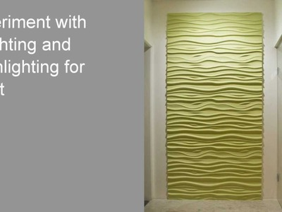 How to Install 3D Textured Wall Panels