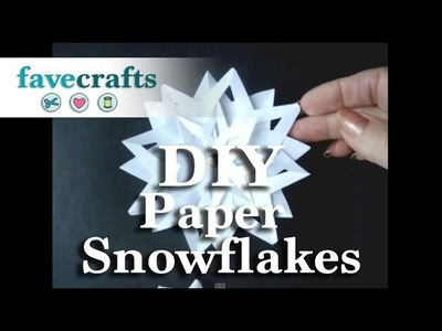 How to Make 3D Paper Snowflakes