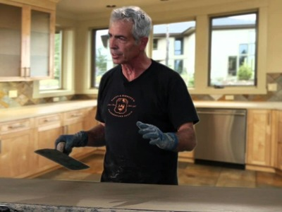 How to Make a Cast in Place Countertop