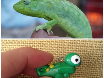 How To Make A Clay Chameleon Charm
