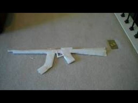 How To Make a Paper Gun That Shoots Easy-Fast HD