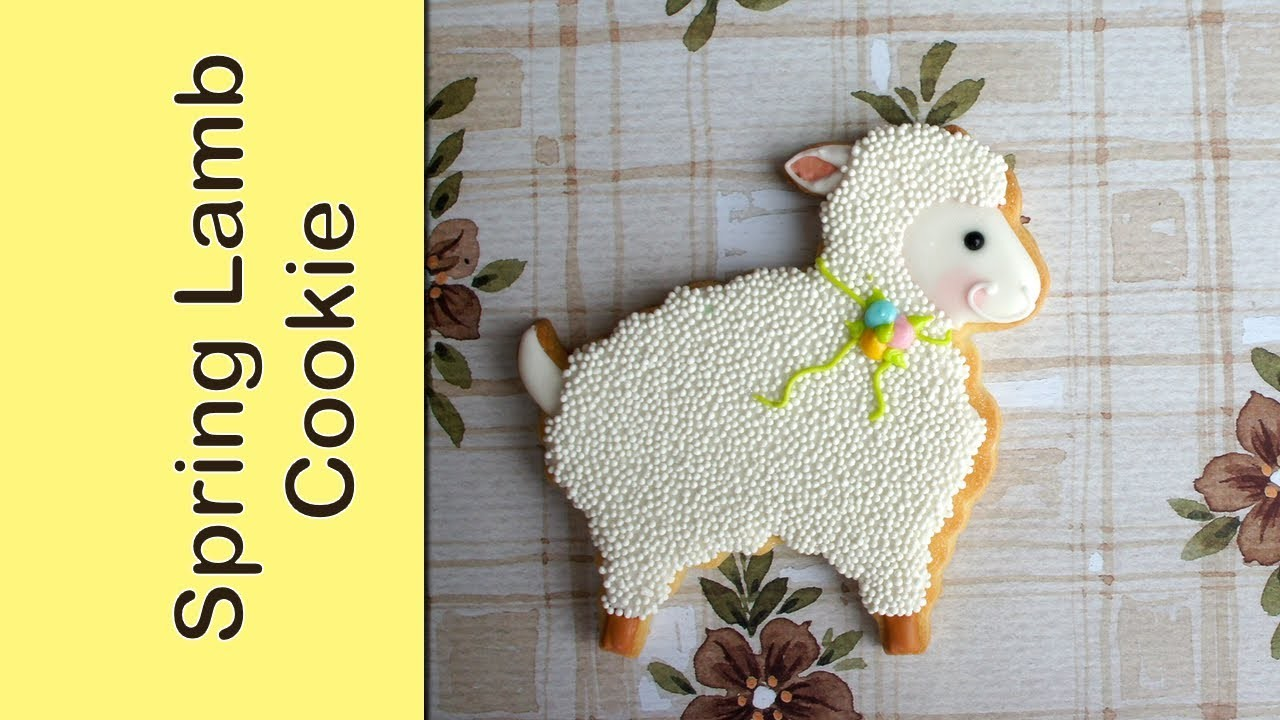 How to make a spring lamb cookie - sheep cookie tutorial