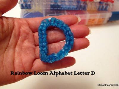 How to make alphabet Letter D Charm on Rainbow Loom