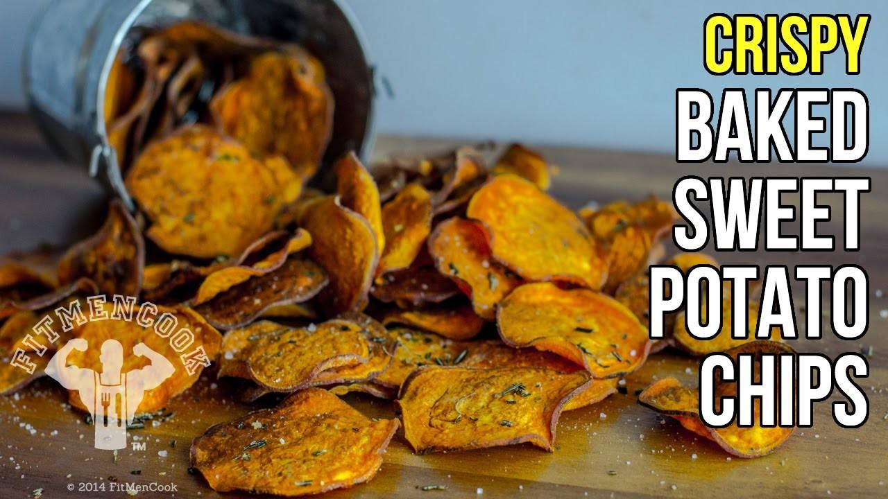 How to Make Crispy Baked Sweet Potato Chips. Como Hacer Chips de Batata