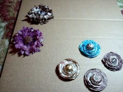 """How to Make Handmade Lollipop and """"Poofy"""" Paper Flowers from Packing Paper and Sizzix Dies"""