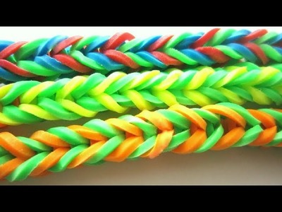 How to make super easy 4 sided fishtail stretchy bracelets with hair bands and clothes pins - EP