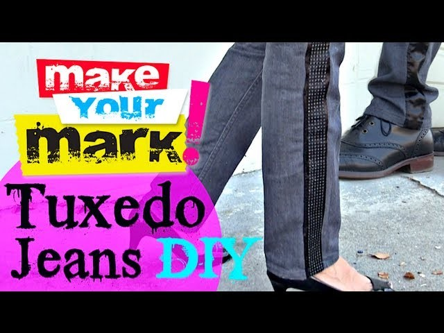 How to:  Make Tuxedo Jeans His.Her