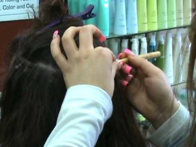 How to put on micro-rings hair extensions