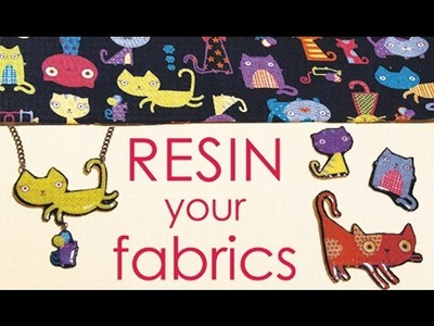 How To Resin Your Fabric Scraps - Make Jewelry, Buttons, Pins,.   by Little Windows