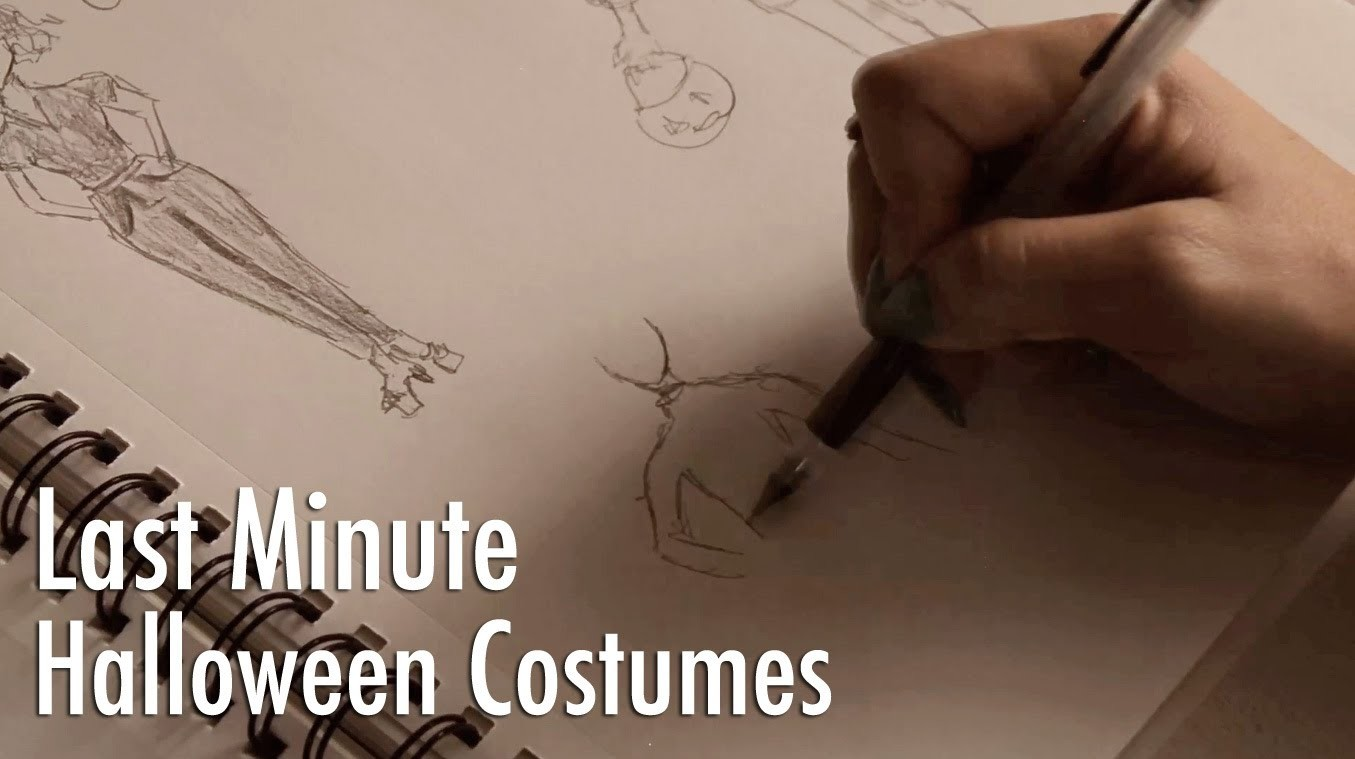 Last Minute Creative Halloween Costumes Quickie with Mr. Kate