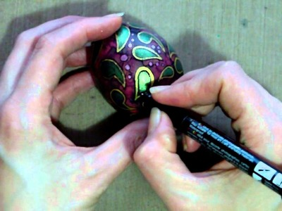 Mixed Media Decorated Easter Egg