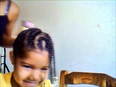 My Natural Biracial Daughter's Cornrolled Protective Hairstyle!
