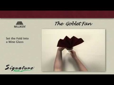 Napkin Folding Tutorial - How to fold a Goblet Fan napkin