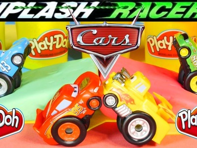 NEW 2014 Cars Riplash Racers Chick Hicks vs Lightning McQueen Cars 2 Mater Disney Pixar Play Doh