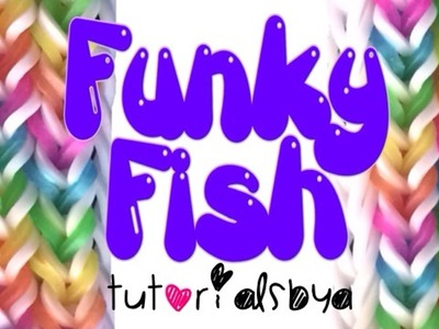 NEW REVERSIBLE [5-Pin] Funky Fish MONSTER TAIL Rainbow Loom Bracelet Tutorial