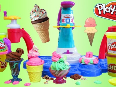 Play Doh Magic Swirl Ice Cream Dessert Sweet Shoppe Playset by Hasbro Toys!