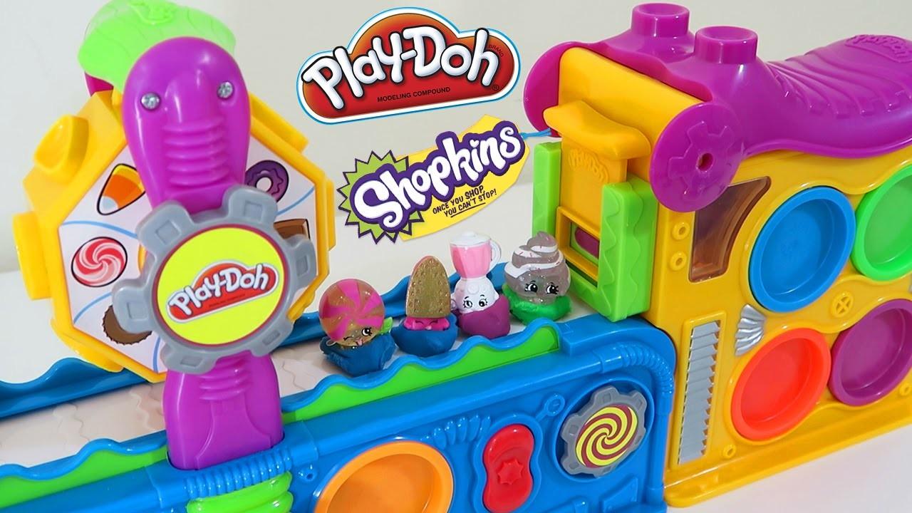 Play Doh Mega Fun Factory ✦ Shopkins Take a Field Trip! Play Dough Super Fun Playset!
