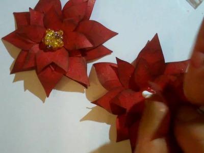 Poinsettia Paper Flower from Cricut Joys of the Season