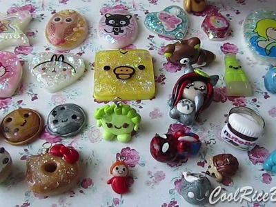 Polymer Clay Charm.Resin Update #12
