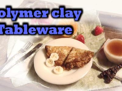 Polymer clay tableware: Plate, bowl & teacup - Tutorial