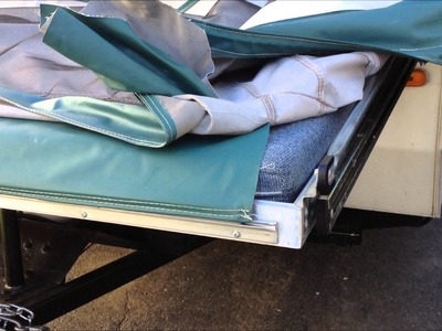 Popup Camper tent trailer Canvas Vinyl repair and removal.install: Part 1.2
