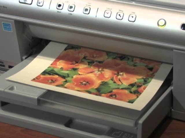 Printing photos on fabric