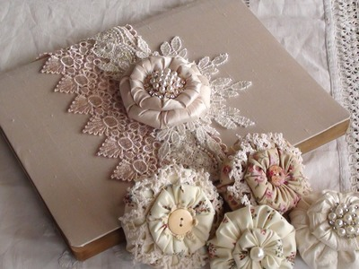 Puffy Shabby Flower Tutorial and small project share.