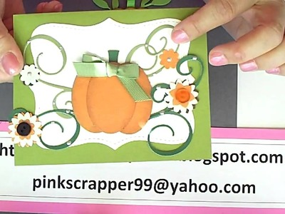 Pumpkin with Stampin' Up Oval punch