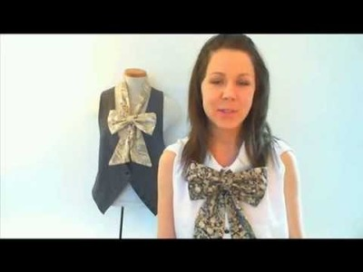 Sew Your Own Bow Tie Neckpiece, LoveSewing.com