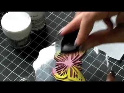 Spectrum Glittered Butterfly Technique
