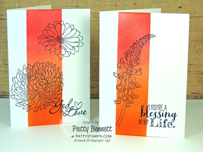 Stampin Up card Sponging with Post Its