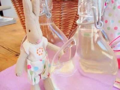 The Maileg Rabbits make Elderflower Cordial at Cottontails Baby