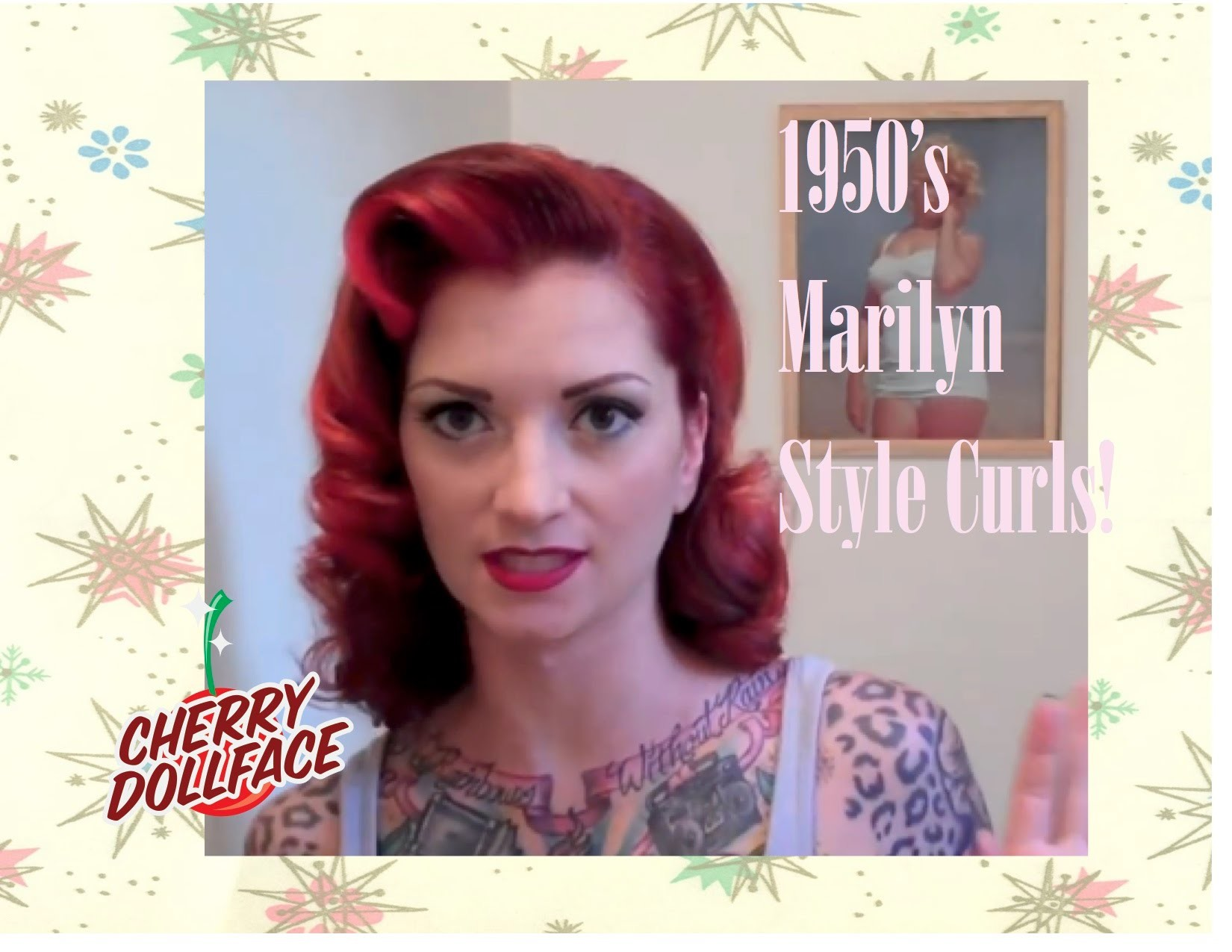 Vintage 1950's curly hair tutorial ala Marilyn Monroe by CHERRY DOLLFACE
