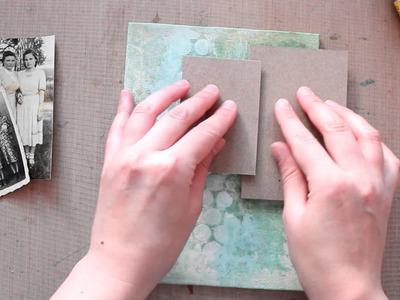 Vintage Souls - Elena Morgun mixed media canvas tutorial