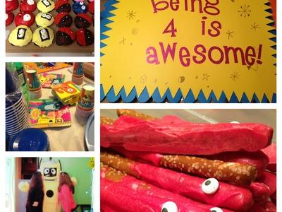YO GABBA GABBA! Birthday party ideas!-How to make Muno pretzel rods