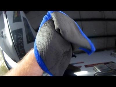 2008 Jet Black BMW 335i 2 step paint correction detail Nanoskin speedy prep towel Garry Dean Premium Custom Detailing Products Solitare Infinite Use Detail Juice Tampa, FL M101