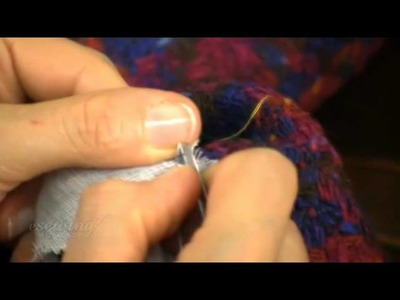 6 of 16 - Removing the Interfacing From the Sleeves (FREE SAMPLE)