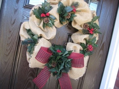 "Affordable Burlap Wreath ""Geo Mesh Style"""