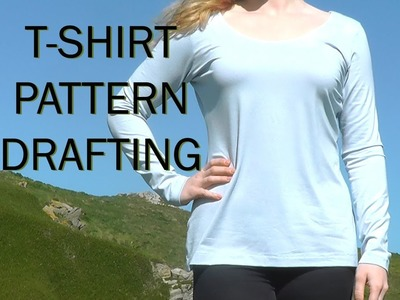 Basic T-shirt Pattern. Sewing Project Stretch Fabric. PATTERN DRAFTING TUTORIAL 1