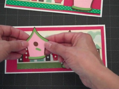 Bird House Rectangle Card-Stretch Your Imagination Cricut Cartridge